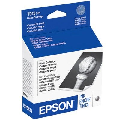 T013201 Ink Cartridge - Epson Genuine OEM (Black)