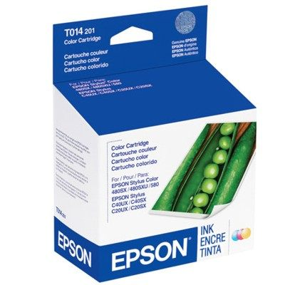 T014201 Ink Cartridge - Epson Genuine OEM (Color)