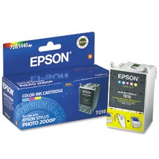 T016201 Ink Cartridge - Epson Genuine OEM (Color)