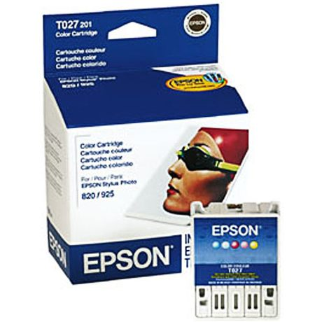 T027201 Ink Cartridge - Epson Genuine OEM (Color)