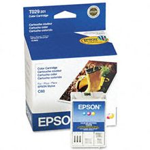 T029201 Ink Cartridge - Epson Genuine OEM (Color)