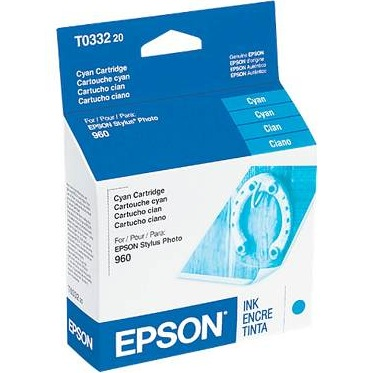 T033220 Ink Cartridge - Epson Genuine OEM (Cyan)