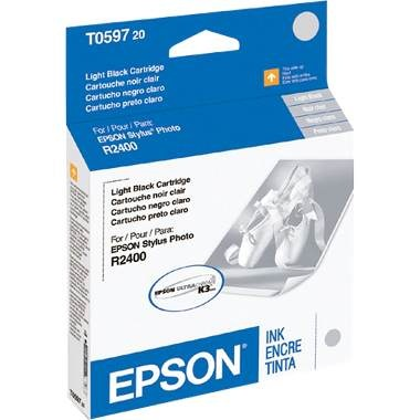 T059720 Ink Cartridge - Epson Genuine OEM (Light Black)