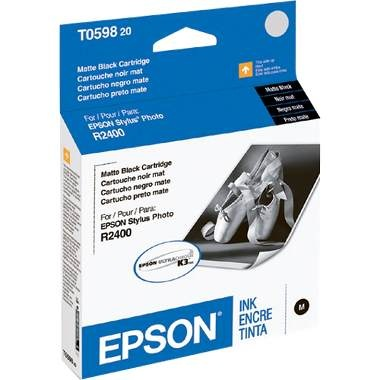 T059820 Ink Cartridge - Epson Genuine OEM (Matte Black)