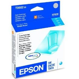 T060220 Ink Cartridge - Epson Genuine OEM (Cyan)