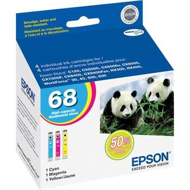 T068520 Ink Cartridge - Epson Genuine OEM (Bundle Pack)