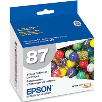 T087020 Ink Cartridge - Epson Genuine OEM (Ink Optimizer)