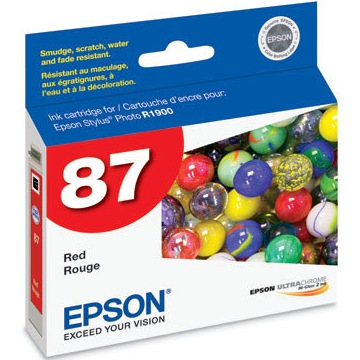 T087720 Ink Cartridge - Epson Genuine OEM (Red)