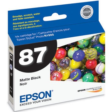 T087820 Ink Cartridge - Epson Genuine OEM (Matte Black)