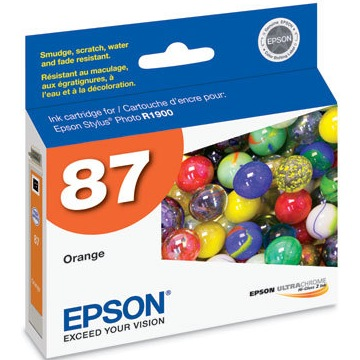 T087920 Ink Cartridge - Epson Genuine OEM (Orange)