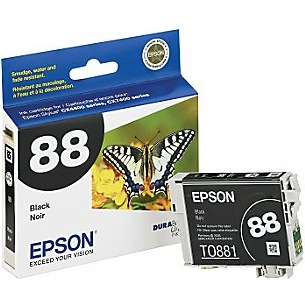 T088120 Ink Cartridge - Epson Genuine OEM (Black)