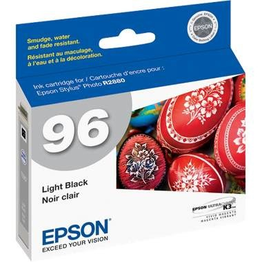 T096720 Ink Cartridge - Epson Genuine OEM (Light Black)