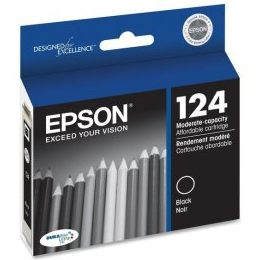 T124120 Ink Cartridge - Epson Genuine OEM (Black)