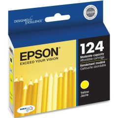 T124420 Ink Cartridge - Epson Genuine OEM (Yellow)