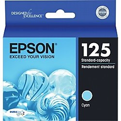 T125220 Ink Cartridge - Epson Genuine OEM (Cyan)