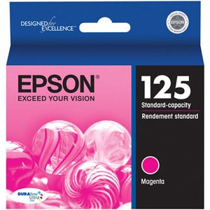 T125320 Ink Cartridge - Epson Genuine OEM (Magenta)