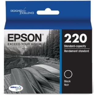 T220120 Ink Cartridge - Epson Genuine OEM (Black)