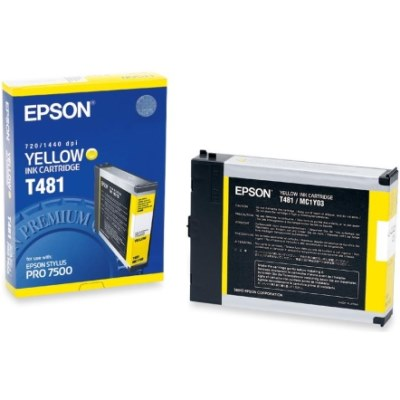 T481011 Ink Cartridge - Epson Genuine OEM (Yellow)