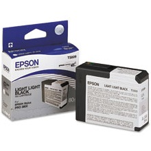 T580900 Ink Cartridge - Epson Genuine OEM (Light Light Black)