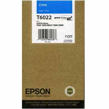 T602200 Ink Cartridge - Epson Genuine OEM (Cyan)