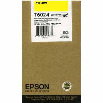 T602400 Ink Cartridge - Epson Genuine OEM (Yellow)