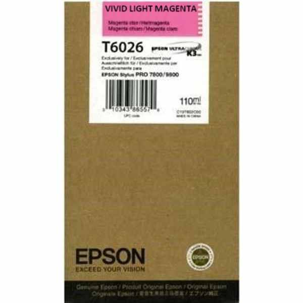 T602600 Ink Cartridge - Epson Genuine OEM (Light Magenta)