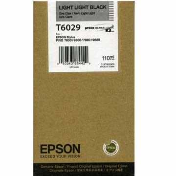 T602900 Ink Cartridge - Epson Genuine OEM (Light Light Black)