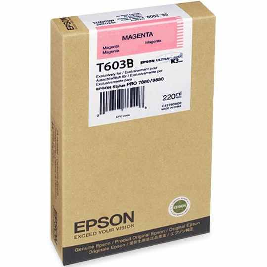 T603B00 Ink Cartridge - Epson Genuine OEM (Magenta)