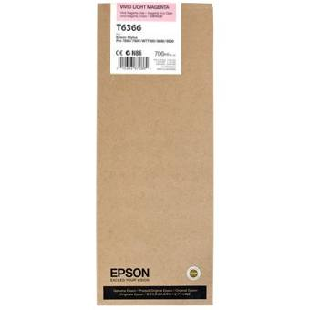 T636600 Ink Cartridge - Epson Genuine OEM (Light Magenta)
