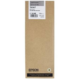 T636700 Ink Cartridge - Epson Genuine OEM (Light Black)