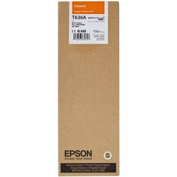 T636A00 Ink Cartridge - Epson Genuine OEM (Orange)