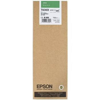 T636B00 Ink Cartridge - Epson Genuine OEM (Green)