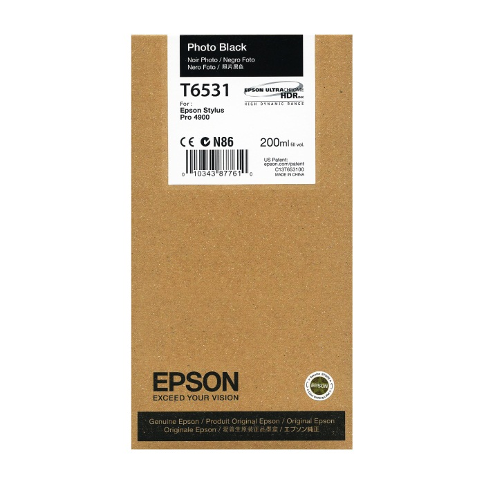 T653100 Ink Cartridge - Epson Genuine OEM (Photo Black)
