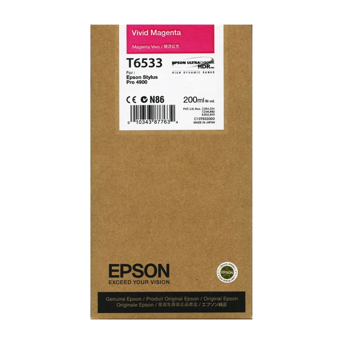T653300 Ink Cartridge - Epson Genuine OEM (Vivid Magenta)