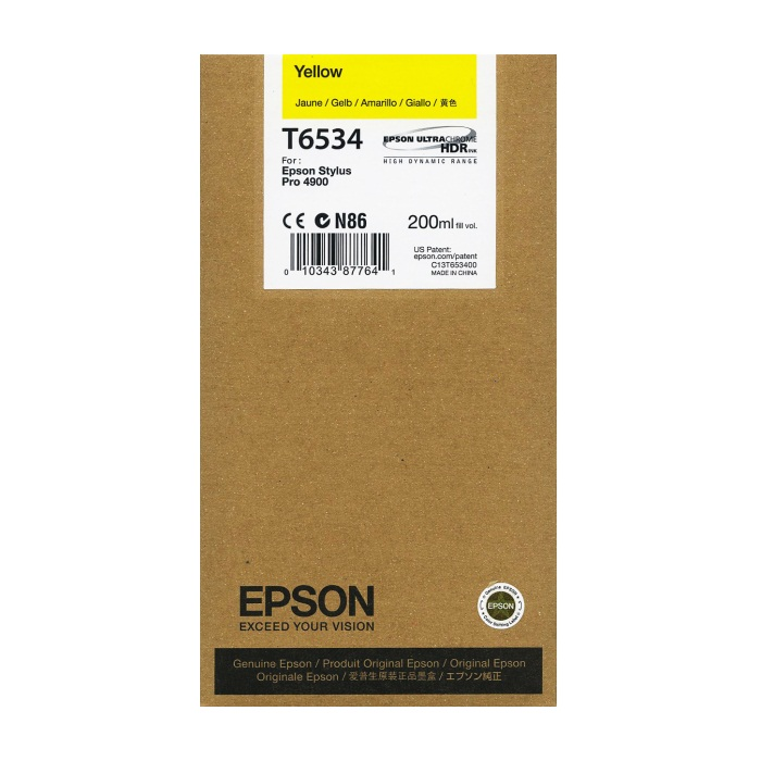 T653400 Ink Cartridge - Epson Genuine OEM (Yellow)
