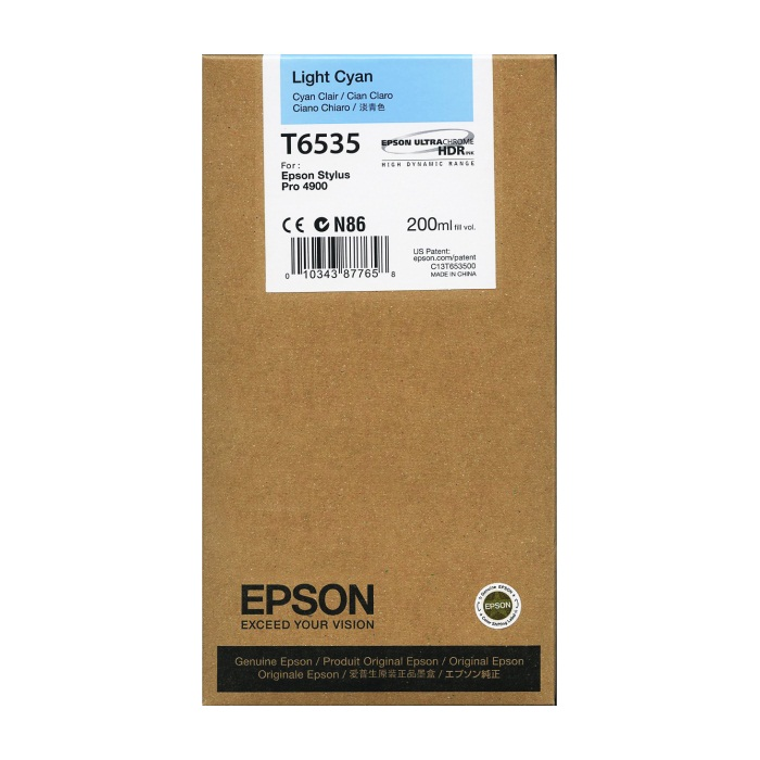 T653500 Ink Cartridge - Epson Genuine OEM (Light Cyan)