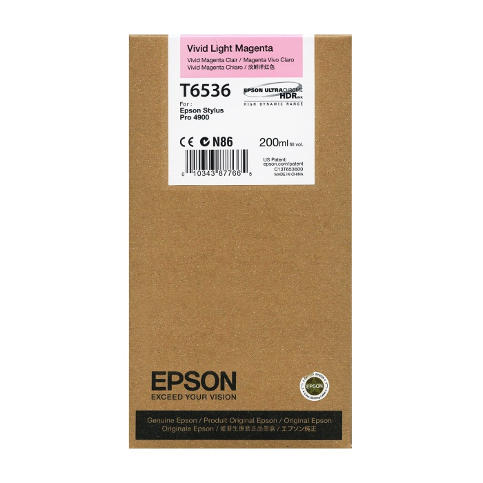 T653600 Ink Cartridge - Epson Genuine OEM (Light Vivid Magenta)