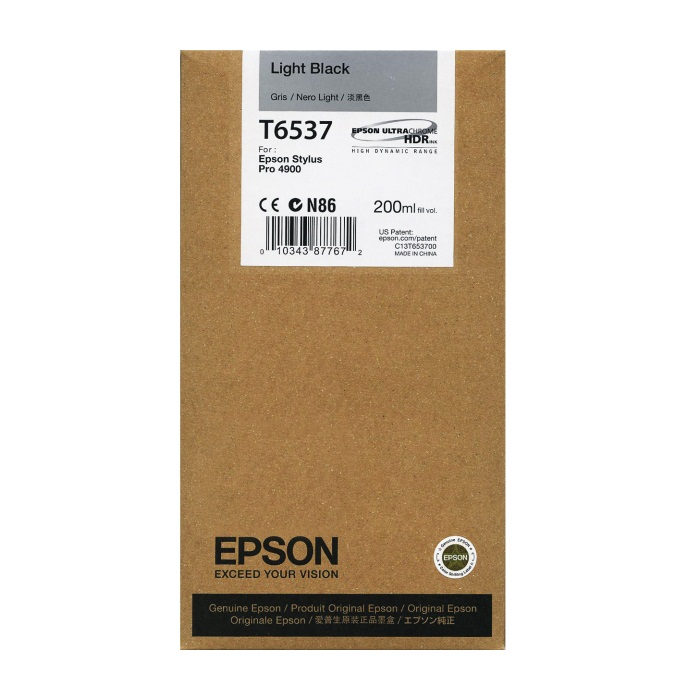 T653700 Ink Cartridge - Epson Genuine OEM (Light Black)