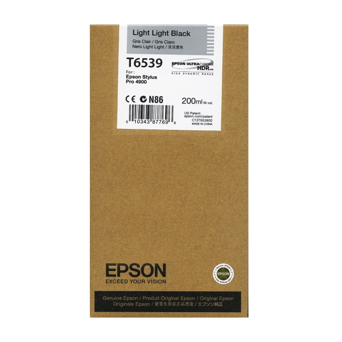 T653900 Ink Cartridge - Epson Genuine OEM (Light Light Black)