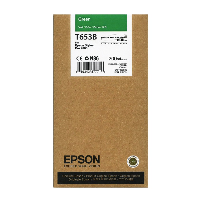 T653B00 Ink Cartridge - Epson Genuine OEM (Green)