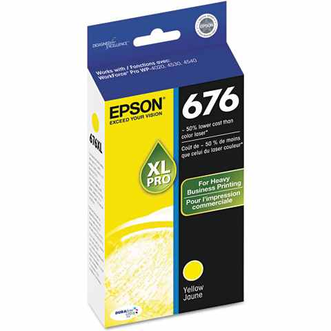 T676XL420 Ink Cartridge - Epson Genuine OEM (Yellow)
