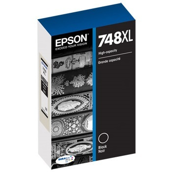 T748XL120 Ink Cartridge - Epson Genuine OEM (Black)