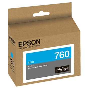 T760220 Ink Cartridge - Epson Genuine OEM (Cyan)
