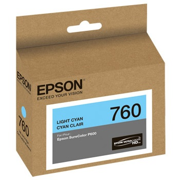 T760520 Ink Cartridge - Epson Genuine OEM (Light Cyan)