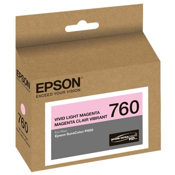 T760620 Ink Cartridge - Epson Genuine OEM (Light Magenta)