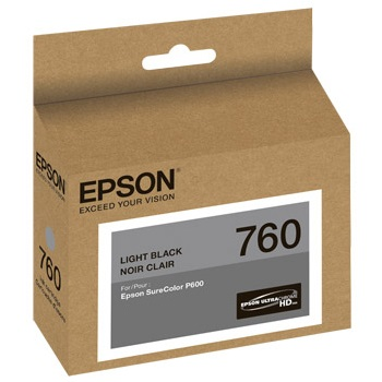 T760720 Ink Cartridge - Epson Genuine OEM (Light Black)