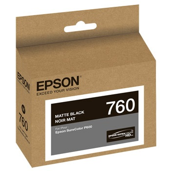 T760820 Ink Cartridge - Epson Genuine OEM (Matte Black)