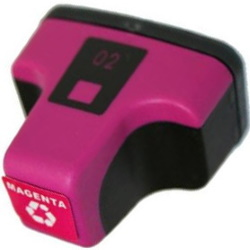 HP 02 Magenta Ink Cartridge - HP Remanufactured  (Magenta)