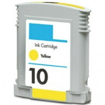 HP 10 Yellow Ink Cartridge - HP Remanufactured  (Yellow)