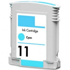 HP 11 Cyan Ink Cartridge - HP Remanufactured  (Cyan)